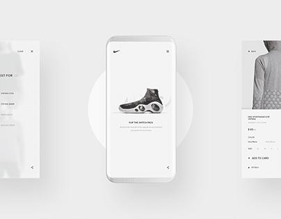 NIKE Store Web Design