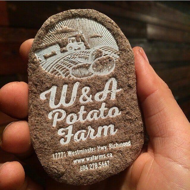 Potato shaped business card