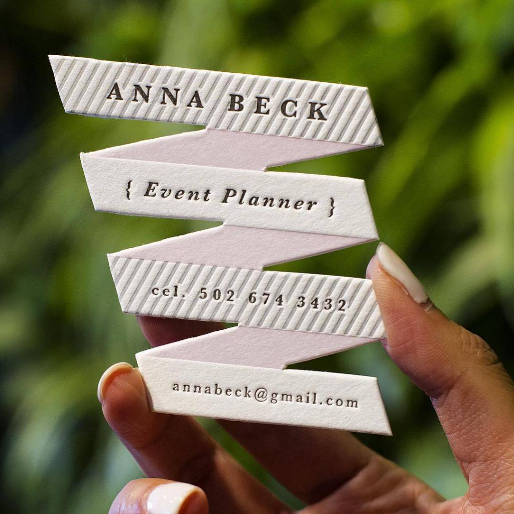 Ribbon Shaped Business Card