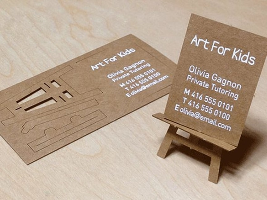 Business Card For A Private Art Tutor