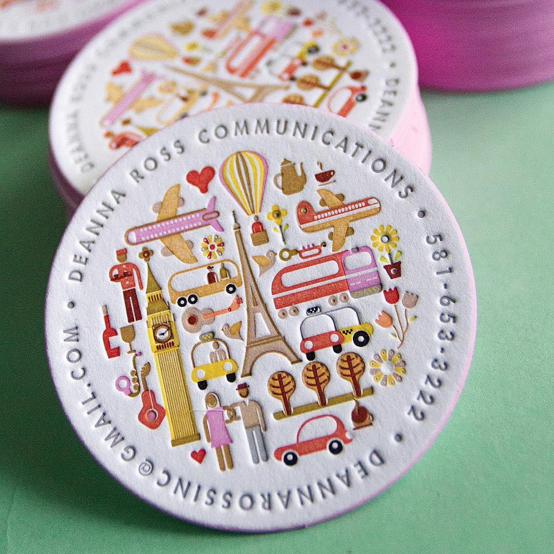 Adorable Circular Business Card