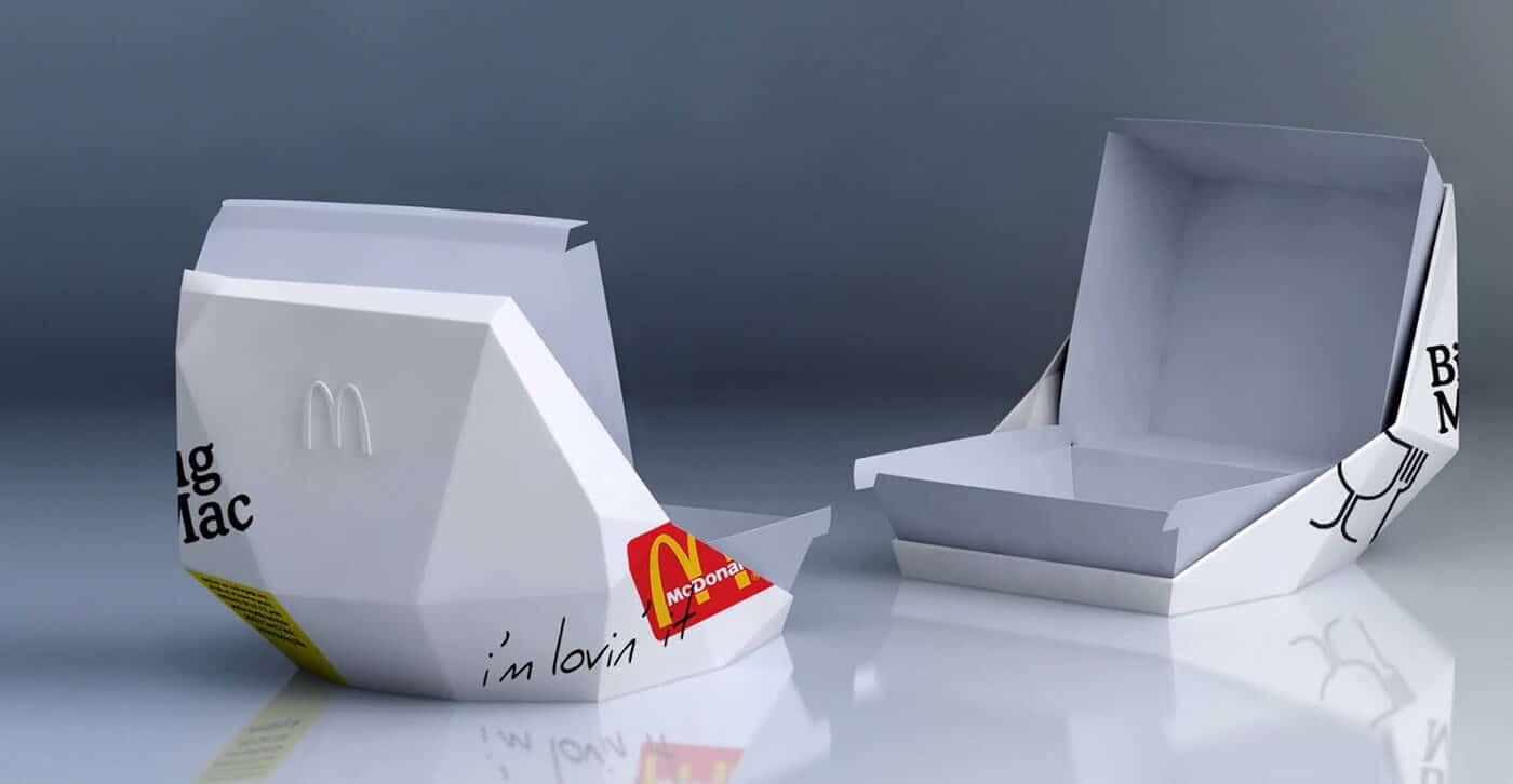 McDonald's bio rubber tableware / overpack
