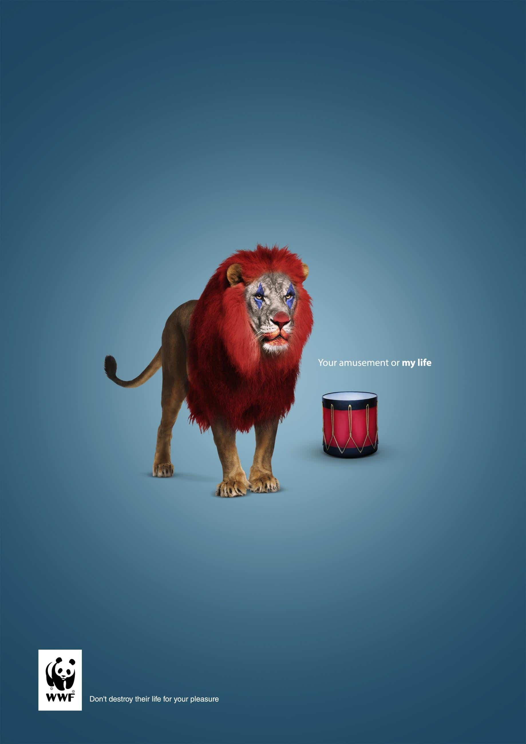 Your amusement or my life. WWF Campaign Advertising