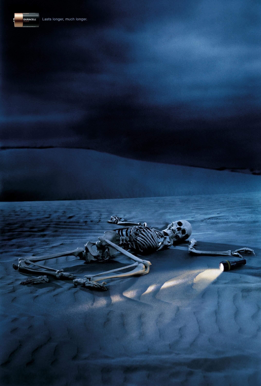 Duracell Battery: Skeleton