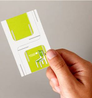 Folding Chair Business Cards