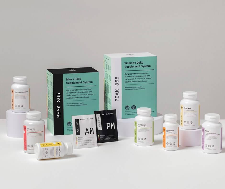 Peak 365 vitamins packaging