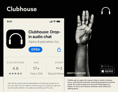 What is Clubhouse app? / Visual Identity Concept