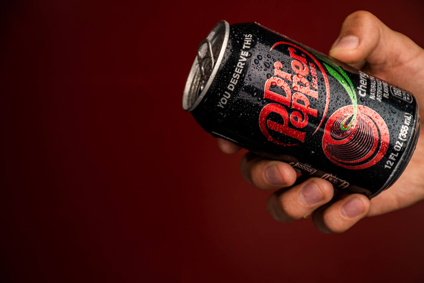 Dr Pepper. Studio Product Photography