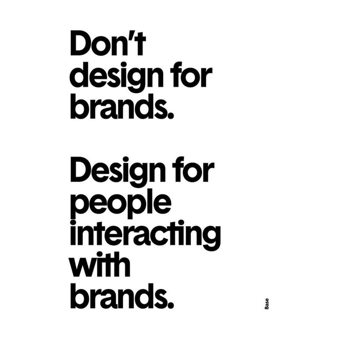 don't design for brands