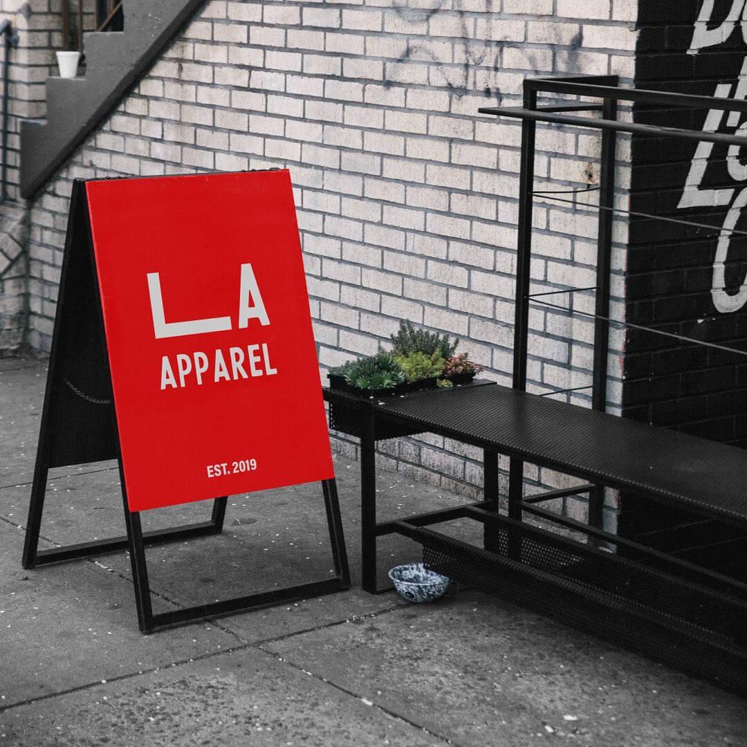 Brand identity for 'LA Apparel'