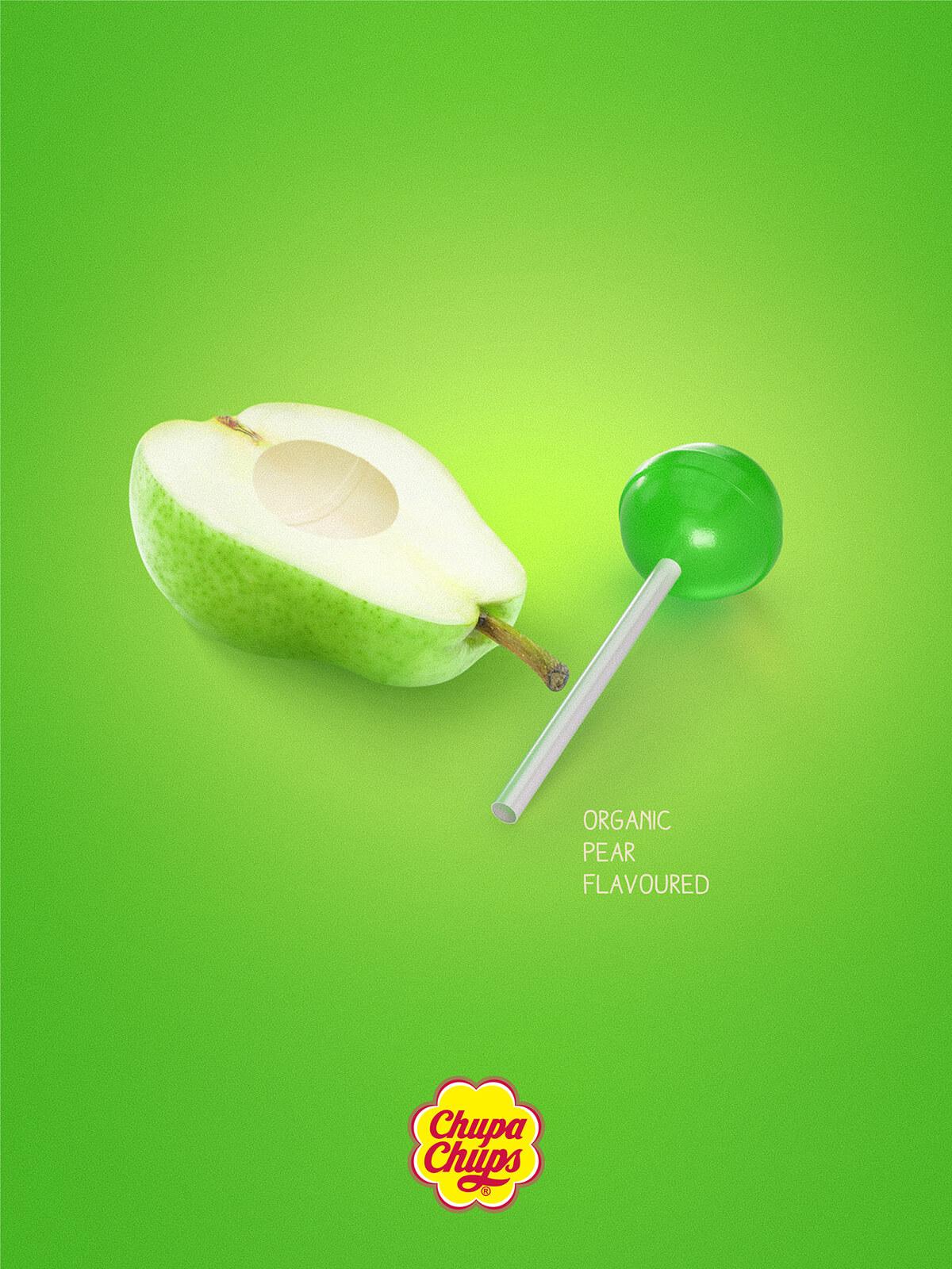 Organic flavoured - Chupa Chups print